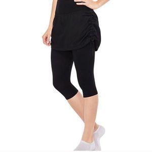 Spanx Adjustable Black Skirt Capri Leggings  A0105